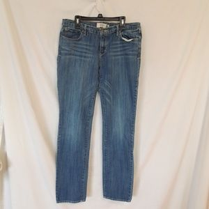 Abercrombie Fitch Erin Womens low Rise Straight Le